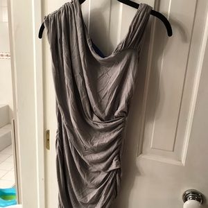 Andrew Marc bodycon draped dress